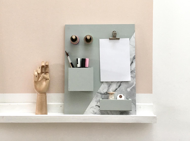 diy organisateur de bureau studiolamaison. Black Bedroom Furniture Sets. Home Design Ideas